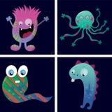 kort med monster stock illustrationer