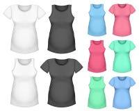 Kort mufft-skjorta för moderskap och bästa behållare Arkivfoton