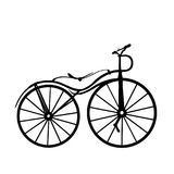 Kort och modell med cykeln fotografering för bildbyråer