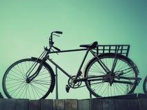 Kort och modell med cykeln royaltyfri fotografi