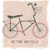 Kort och modell med cykeln Arkivbilder