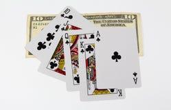 Kort och pengar Royaltyfri Fotografi