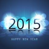 Kort-, räknings- eller bakgrundsmall för nytt år - 2015 Arkivfoto