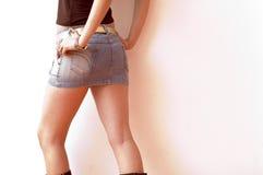 kort skirt Royaltyfri Fotografi