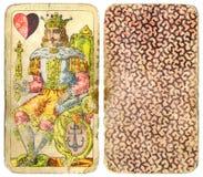 kort som 1 leker tappning Royaltyfri Bild