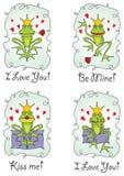 kort som greeting den set valentinvektorn Royaltyfria Foton