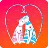 kort som greeting lyckliga förälskelsehusdjur vektor illustrationer