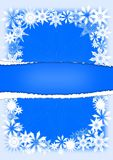 kort som greeting snowflakes stock illustrationer