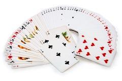 kort som isoleras över leka white Royaltyfri Bild