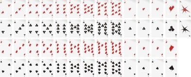 kort som leker seten Vektor Illustrationer