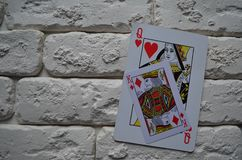kort spolar leka pokerkunglig person poker lek royaltyfri fotografi