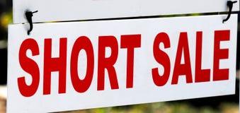 kort tecken för försäljning Royaltyfri Fotografi