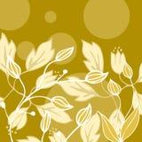 kort tecknad blommahälsningshand Royaltyfri Foto