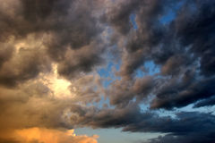 kort thunderstorm Royaltyfria Bilder