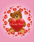 Kort - valentindag. Royaltyfri Fotografi