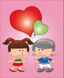 Kort - valentindag. Royaltyfria Foton