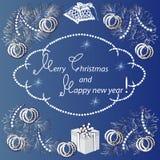 Kort vid jul och nytt år Royaltyfri Fotografi