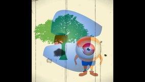 Kort video, bästa 3D illustration, bästa animering arkivfilmer