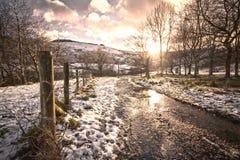 Kort vinterdag Arkivbilder