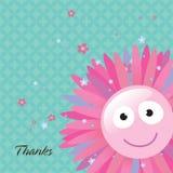 kortblomman tackar dig Fotografering för Bildbyråer