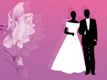 kortbröllop Royaltyfri Fotografi