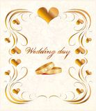 kortbröllop Royaltyfri Foto