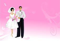 kortbröllop vektor illustrationer
