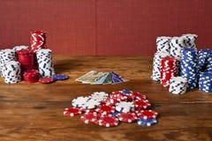 kortchiper credit poker Arkivfoton
