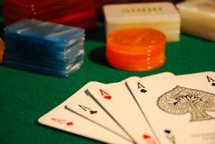 kortchippoker Royaltyfria Bilder