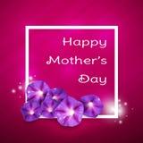 kortdag som greeting lycklig moder s Arkivbild
