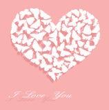 kortdagen älskar jag s-valentinen dig Arkivfoto