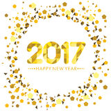 Kortdesign för lyckligt nytt år Arkivfoton