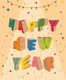 Kortdesign för nytt år arkivfoton
