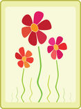 kortdesignen blommar hälsning Arkivfoton