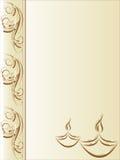 kortdiwalihälsning royaltyfri illustrationer