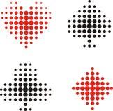 kortdräkter vektor illustrationer