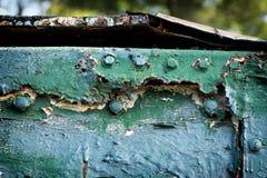 Korte en dikke Dumpster Stock Foto