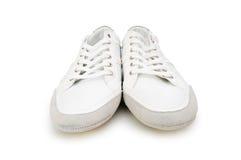 Korte geïsoleerde schoenen Royalty-vrije Stock Afbeeldingen