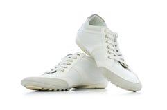 Korte geïsoleerded schoenen Stock Foto