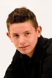 Korte haired tiener met slechte huid en acne royalty-vrije stock fotografie