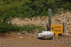 Korte route Royalty-vrije Stock Foto