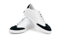 Korte schoenen die op het wit worden geïsoleerde Royalty-vrije Stock Foto's
