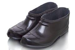 Korte zwarte rubberlaarzen Stock Afbeelding