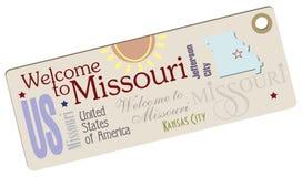 Kortere wegonthaal aan Missouri royalty-vrije illustratie