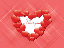kortet älskar jag den röda romantiska vektorn dig vektor illustrationer