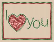 kortet älskar jag dig Royaltyfri Foto