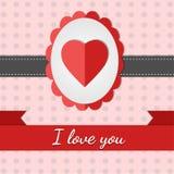 kortet älskar jag dig Fotografering för Bildbyråer
