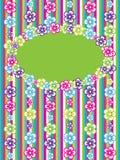 kortet blommar hälsning Royaltyfri Bild