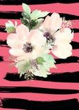 kortet blommar hälsning Royaltyfria Bilder