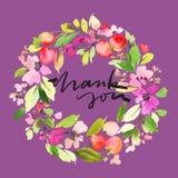 kortet blommar hälsning Arkivfoto